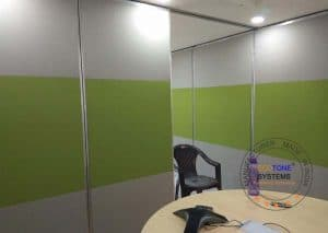 Sliding Acoustic Partition
