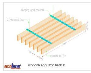 space matrix - wooden Baffles drawing - Ecotone