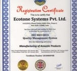 Ecotone Certified by ISO